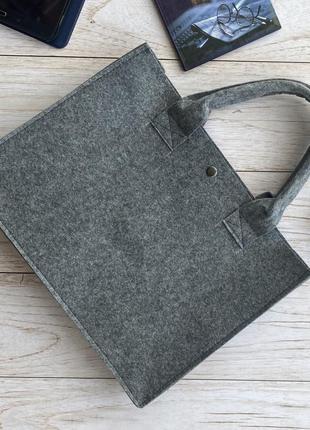 Войлочная сумка для ноутбука,документов на работу,в офис