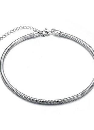 Срібний браслет змійка