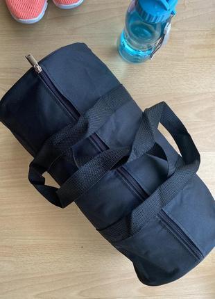 Спортивная сумка цилиндр в спортзал, бассейн черного цвета