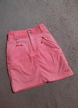 Короткая розовая юбка - шорты/ спортивная розовая юбка - шорты от röhnisch