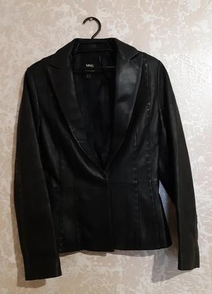 Жакет пиджак шкіряний / кожаный mango