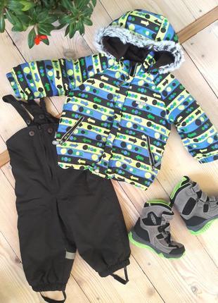 Зимний комбинезон lenne 80+6 (реально 86-90) куртка+полукомбинезон