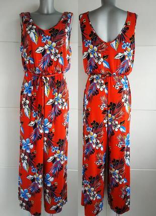 Стильный комбинезон с брюками george с принтом красивых цветов