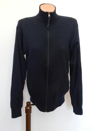 Шерстяная двухстороняя кофта от paul smith jeans (размер l)