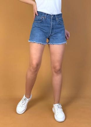 Шорты джинсовые высокая посадка levis.