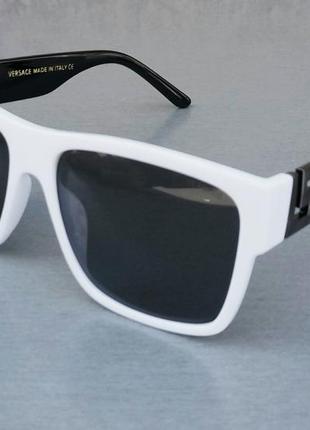 Versace очки женские солнцезащитные черно белые