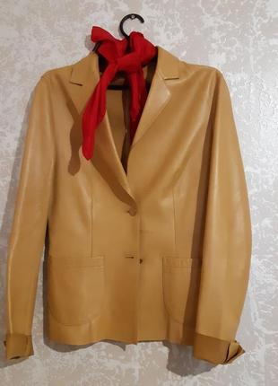 Жакет пиджак шкіряний / кожаный prada