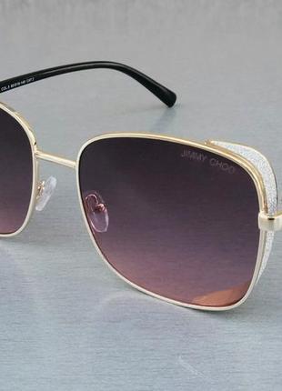 Jimmy choo очки женские солнцезащитные большие розово сиреневые