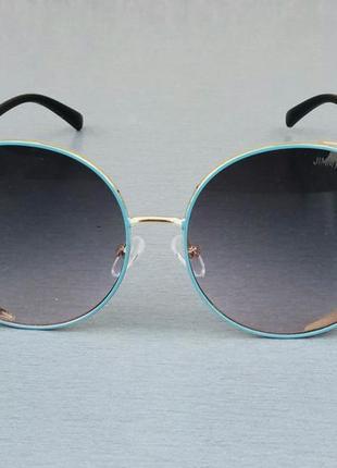 Jimmy choo очки женские солнцезащитные большие с градиентом темно серые с голубым