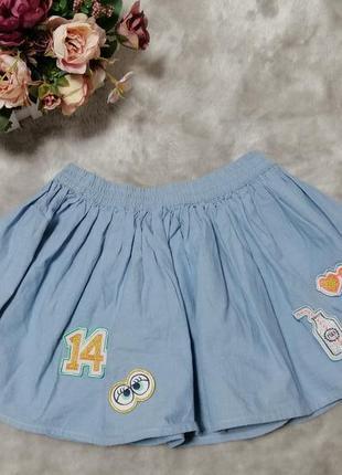 Модная хлопковая юбочка m&s на 4-5 лет