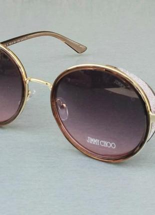 Jimmy choo очки женские солнцезащитные круглые розово бордовые