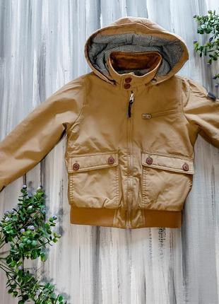 Детская куртка zara с капюшоном