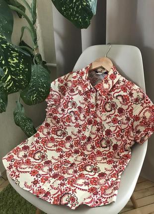 Стильная рубашка без рукавов на лето 38-40 размер {l}