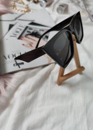 Очки окуляри темные черные солнце солнцезащитные стильные трендовые новые uv 4007 фото