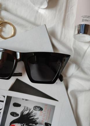 Очки окуляри темные черные солнце солнцезащитные стильные трендовые новые uv 4005 фото