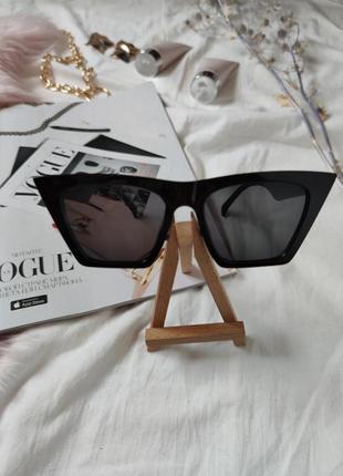 Очки окуляри темные черные солнце солнцезащитные стильные трендовые новые uv 4006 фото