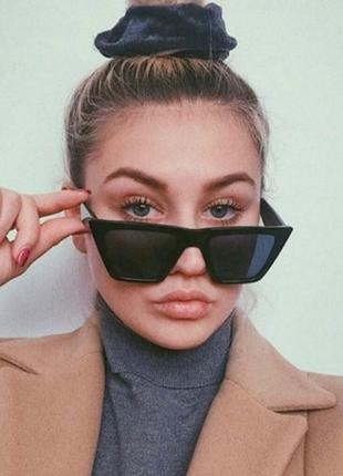 Очки окуляри темные черные солнце солнцезащитные стильные трендовые новые uv 400
