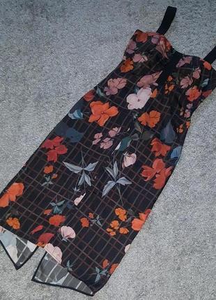 Оригинал.новое,фирменное,стильное,шелковое платье-сарафан mango