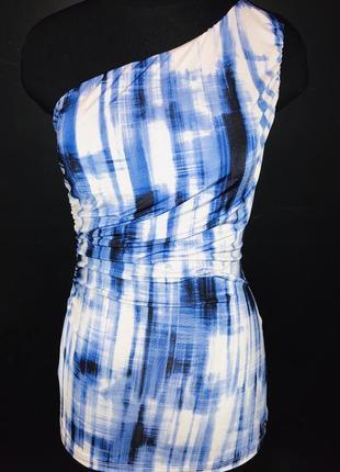 Трикотажная блуза на одно плечо, итальянский трикотаж