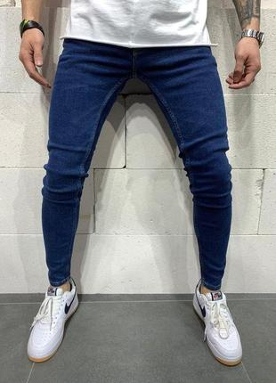 Мужские синие джинсы без излишеств, для любителей минимализму, топ модель (29-36)1 фото