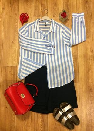 Расслабленная полосатая сорочка