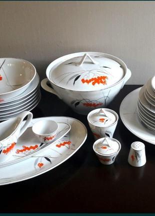 Фарфоровый столовый сервиз аппетитный кизил