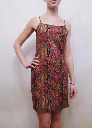 Платье под змеиную кожу jean paul
