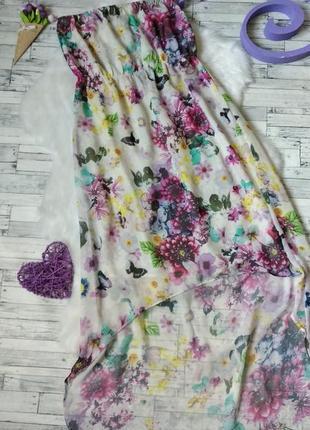 Летнее платье accessorize женское без бретелек цветы шифон