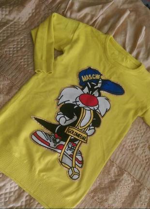 Туника , свитер с большим дизайном