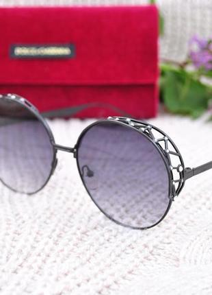 Красивые солнцезащитные круглые  очки окуляри