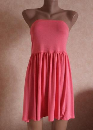 Платье трикотажное м, открытые плечи, на резинке