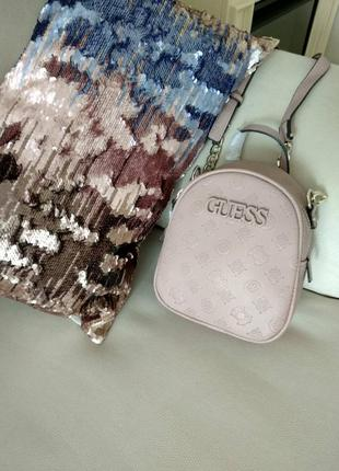 Модная молодежная  женская сумочка- рюкзачек , кросс-боди guess новый с бирками в наличии