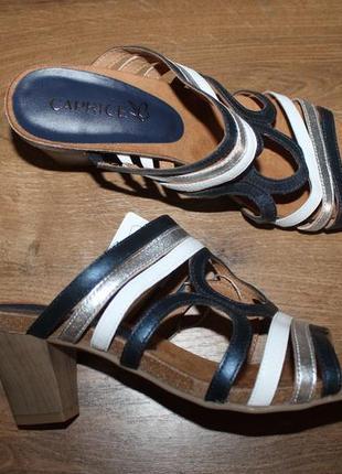 Шлепанцы, босоножки на каблуке caprice germany, 38 размер