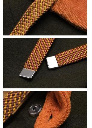Оригинальное брендовое пальто прямого кроя с капюшоном и спущенным плечом5 фото