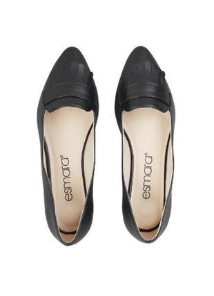 Балетки esmara экокожа, новые чёрные туфли размер 37 , новинка 2020!1 фото