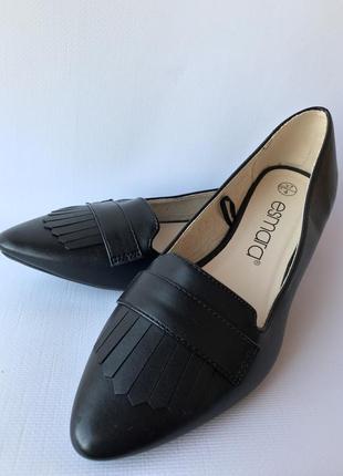 Балетки esmara экокожа, новые чёрные туфли размер 37 , новинка 2020!4 фото