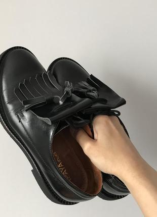 Туфли кожаные дерби дербі лоферы лофери туфлі шкіряні ботинки сапоги черевики papaya
