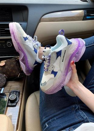 Кроссовки balenciaga triple s violet кросівки