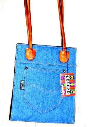 Джинсовый кармашек legend bag, плотная форма, тренд, италия