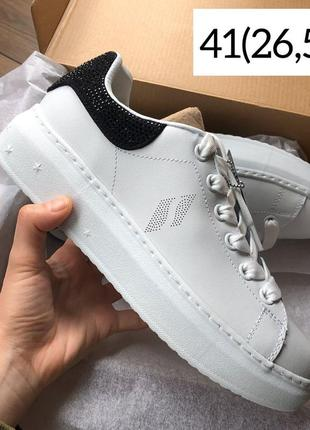 Skechers кроссовки белые из кожи на платформе 41 (26.5 см) оригинал