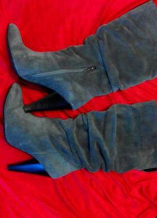 Шикарные женские сапоги ботильоны на стройные ножки. красивый серый цвет