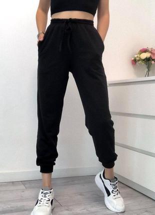 Спортивные штаны женские двухнить черные
