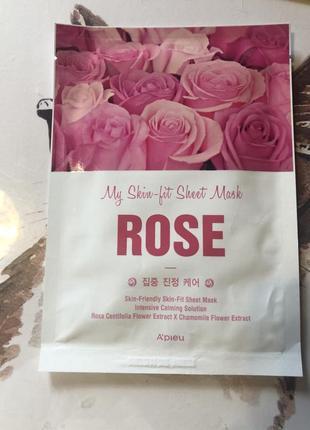 Apieu тканевая маска для лица с экстрактом розы