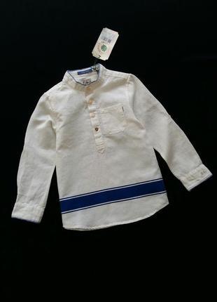 Льняная рубашка scotch&soda (нидерланды) на 5-6 лет (размер 116)