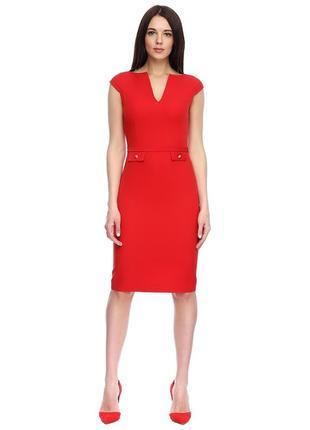 Красное платье футляр ➕видеообзор 🎬