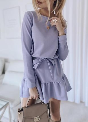 Нежное лиловое платье 💜