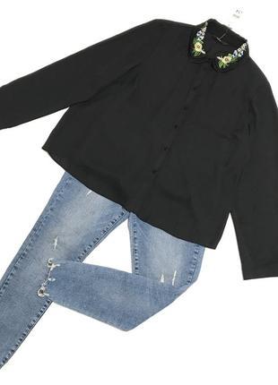 Стильная блуза воротник вышивка george