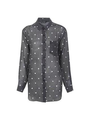 Рубашка блуза miss selfridge в горошек
