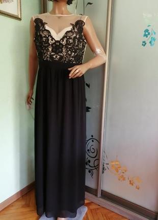 Нарядное вечернее платье батал