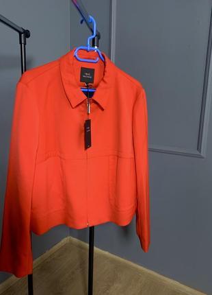 Морковно-оранжевый премиум деловой жакет-пиджак next